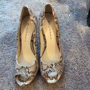 Michael Kors Snakeskin heels